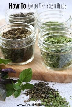 Drying homegrown fresh herbs requires no special equipment and tastes so much better than store bought! Read on to find out how to oven dry fresh herbs.                                                                                                                                                     More