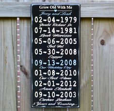 Important Date Custom Wood Sign, 5th Anniversary Gift, Personalized Wedding Gift, Engagement Gift - Rubberstamp on Etsy, $60.00