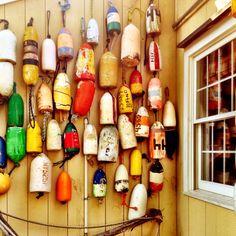 Buoys in Mystic, CT #nautical #mystic
