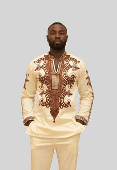 Wala Men's Embroidery Shirt Adinkra Expo is part of Gel nails Stiletto Simple - African wedding attire African embroidery from Ghana