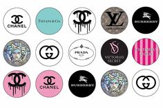 Chanel Stickers, Lol Doll Cake, Chanel Wallpapers, Cupcake Toppers Free, Chanel Decor, Bottle Cap Crafts, Purse Tutorial, Fashion Wallpaper, Chanel Logo