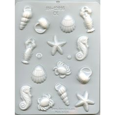"1 1/4-2"" SEA CREATURES Candy Mold  (8H-12816)"