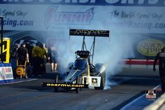 Tony Schumacher & Team Racing at Summit Motorsports Park in Norwalk Ohio in the US. Army T/F Dragster.