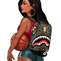 mariahkayhearts Trill Art, Black Art Pictures, Black Girl Art, Black Women  Art,