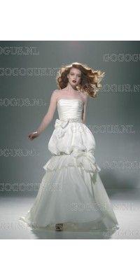 ball-gown-strapless-kralen-boog-taffeta-trouwjurken