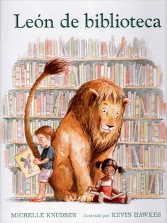 "Library Lion by Michelle Knudsen. This is one of my new very favorite books. A wonderful story and beautiful illustrations. ""There aren't any rules about lions in the library. It turns out, though, that the lion seems very well suited for the library. Library Lesson Plans, Library Skills, Library Lessons, Library Books, Library Ideas, Local Library, Library Rules, Kid Books, Class Library"