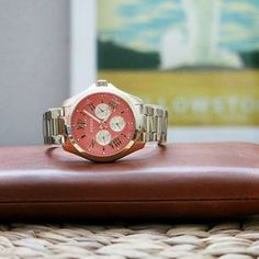 #Fossil - Add a little coral to your collection with our Cecile.