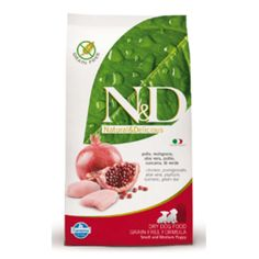Farmina Pet Foods - ND Grain Free Chicken Small & Medium Puppy A healthy and balanced formula for your pet.  Thanks to Farmina's experience and relentless research, we produce only the finest quality foods that nourish and satisfy your pet.