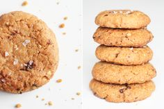 Cookies med peanuts, mørk chokolade og fleur de sel