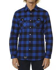 NRG WOODSMAN LS MENS SHIRT - BLUE/BLACK on http://www.surfstitch.com