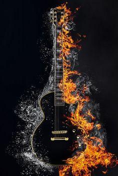 Guitar Wall Art, Guitar Drawing, Guitar Painting, Musik Wallpaper, Galaxy Wallpaper, Music Drawings, Music Artwork, Photo Background Images, Photo Backgrounds