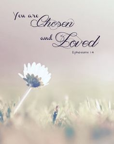 Bible Verses to Live By:you are chosen and loved Ephesians Bible Verses Quotes, Bible Scriptures, Bible Verses For Girls, Ephesians 1, Eph 1, Jesus Christus, God Loves You, Jesus Loves, Favorite Bible Verses