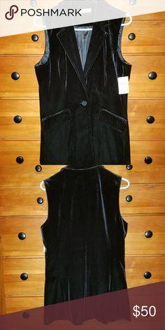 COLD WATER CREEK Velvet Vest STUNNING BLACK VELVET VEST...NEW WITH TAGS...NEVER WORN!!! Coldwater Creek Other