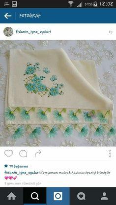 Decorative Towels, Hand Embroidery, Knitting, Tableware, Needlepoint, Dinnerware, Tricot, Breien, Tablewares