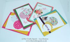 4 Super Simple Speedy Cards on Sunday #1 Stampin' Up! UK