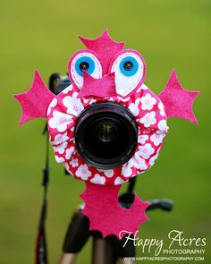 Lens Bling  Pink Seahorse Ready to Ship  by HappyAcresFarm on Etsy, $19.00