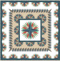 Lost at Sea quilt, square, free pattern by Alex Anderson Quilts Free Paper Piecing Patterns, Star Quilt Patterns, Fabric Patterns, Star Quilt Blocks, Star Quilts, Easy Quilts, Quilting Classes, Quilting Tutorials, Quilting Designs