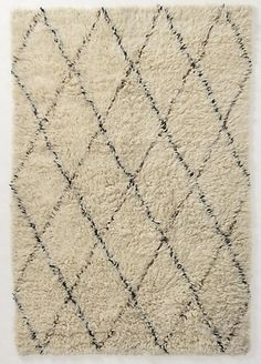 Diamond Flokati Rug from Anthropologie via Remodelista. Wool Carpet, Rugs On Carpet, Grey Carpet, Brown Carpet, Modern Carpet, Decoration Inspiration, Design Inspiration, Nursery Inspiration, Home Decor