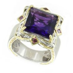Shop for Michael Valitutti African Amethyst and Rhodolite Cocktail Ring. Get free delivery at Overstock.com - Your Online Jewelry Destination! Get 5% in rewards with Club O!