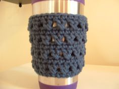 X Stitch Coffee Cup Cozy-Free Pattern!