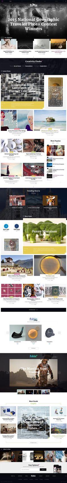 Web Layout Design UI UX Flat Design Modern Design Big Photo Web Development Trends WordPress Web Design, Modern Design, Web Layout, Layout Design, Photo Web, Web News, Mobile Design, Interactive Design, Exterior Design