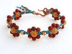 TUTORIAL Macrame Flower Bracelet by ErinSiegelJewelry on Etsy