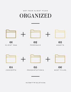 Creative Chronicles: Develop A System To Keep Client Files Organized Business Branding, Business Design, Business Marketing, Creative Business, Marketing Ideas, Marketing Tools, Small Business Organization, File Organization, Organizing