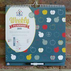 Organised Mum Weekly Planner 2015 Wall Calendar