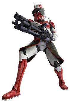 Thorn is a clone trooper commander of the famed Coruscant Guard during the Clone Wars.