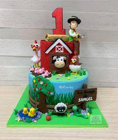 Farm Animal Birthday, Farm Birthday, 2nd Birthday Parties, Birthday Angel, Barnyard Party, Farm Cake, Baby Lamb, Farm Theme, First Birthdays
