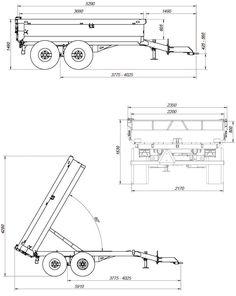 Rozměry sklopného vleku T8