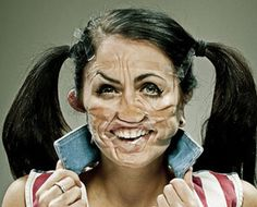 Scotch Tape: A Photoseries Of Taped Faces