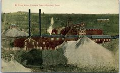 1910s Cripple Creek, Colorado MINING Postcard EL PASO MINE Great Western PC Co.