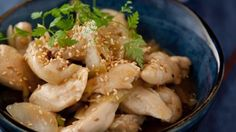 A delicious, fresh-tasting chinese style lemon chicken dish which is also Gluten free Chinese Style, Chinese Food, Fresh Coriander, Lemon Chicken, Stir Fry, Real Food Recipes, Potato Salad, Good Food, Dishes