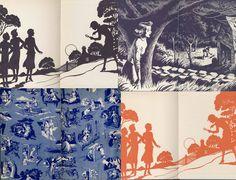 vintage Nancy Drew book endpapers