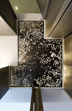 Laser cut stainless steel ceiling - Virtual Light Loft - Dean/Wolf Architects