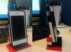 Simple Phone Dock, love it :) Check out this and other genius practical #Lego ideas in Mashable's article #bizitalk