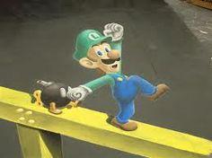 Luigi Chalk Art