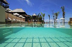 The pool at Gaya Island Resort, Borneo