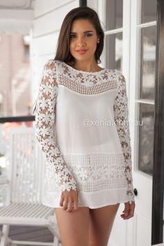 Crochet Daisy 2.0 Dress ▶ ▷▶ Shop It Now ❤ Xenia Boutique xx