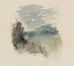 Joseph Mallord William Turner, 'Vignette Study for Lord Ullins Daughter, for Campbells Poetical Works' c.1835-6