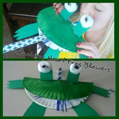 frog and party blower, preschool craft for pond unit Frog Activities, Spring Activities, Kindergarten Art, Preschool Crafts, Art For Kids, Crafts For Kids, Craft Kids, Party Blowers, Lifecycle Of A Frog
