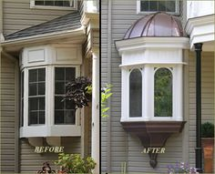 Complete with copper clad domed roof and stained glass windows, the new bay window ...