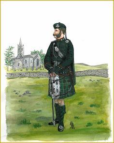 The Lanarkshire Rifle Volunteer Corps, Captain, 1887 became Cameronians(Scottish Rifles), Volunteer Battalion British Army Uniform, British Uniforms, Military Art, Military History, Scottish Dress, Highlanders, Napoleon, Victorian Era, Troops