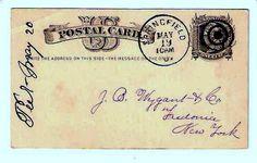 ANTIQUE OLD POSTCARD 19TH CENTURY US POSTAGE CARD POSTAL MID XIX VINTAGE STAMPED   eBay