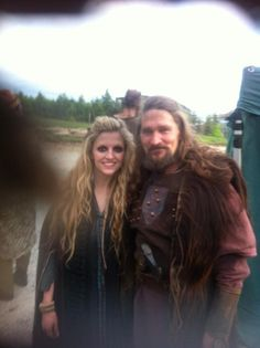 #Vikings Season 4 Japser Kearns FB with Maude Hirst aka Helga and Gustaf in the background. 17-Sept-2015.