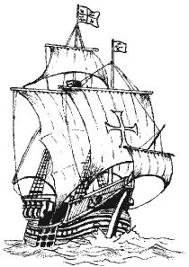 Tall ship stamp