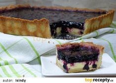 Koláč z kompotovaných borůvek s jogurtem recept - TopRecepty.cz Tiramisu, Cheesecake, Treats, Pie, Sweet, Ethnic Recipes, Food, Cheesecake Cake, Sweet Like Candy