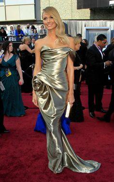 Stacy Keibler in Marchesa. Oscars 2012. An oscar dress