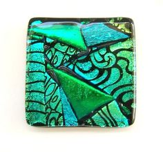 Cabinet Hardware Knobs in Green Art Glass by Uneek Glass Fusions, via Flickr